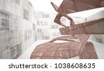 empty smooth abstract room... | Shutterstock . vector #1038608635