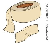 vector of adhesive tape   Shutterstock .eps vector #1038610102