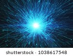 abstract glowing burst... | Shutterstock . vector #1038617548