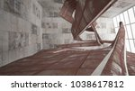 empty smooth abstract room... | Shutterstock . vector #1038617812