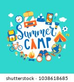 Summer Camp Concept With...