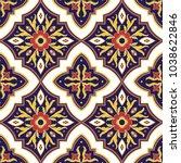 mexican tile pattern vector... | Shutterstock .eps vector #1038622846