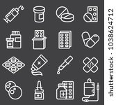 pills capsules and bottles... | Shutterstock .eps vector #1038624712