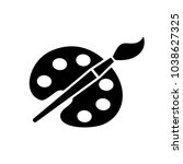 brush painter vector icon. art... | Shutterstock .eps vector #1038627325
