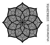 mandala. arabesque. round...   Shutterstock .eps vector #1038628456