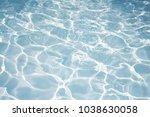texture of water in swimming... | Shutterstock . vector #1038630058