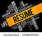 resume word cloud collage ... | Shutterstock .eps vector #1038630946