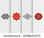 set of seamless geometric... | Shutterstock .eps vector #1038631072