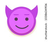 emodji icon. emoticon for chat  ... | Shutterstock .eps vector #1038634906