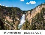 upper yellowstone falls ... | Shutterstock . vector #1038637276