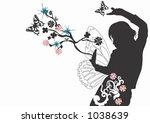 a female silhouette   Shutterstock .eps vector #1038639