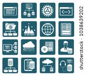 big data icon set vector design | Shutterstock .eps vector #1038639202