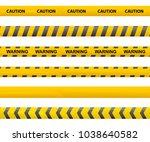 tape caution. police line.... | Shutterstock .eps vector #1038640582