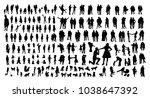 family vector silhouettes | Shutterstock .eps vector #1038647392