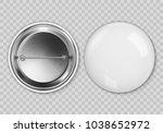 vector white blank badging... | Shutterstock .eps vector #1038652972