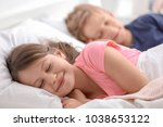 cute little brother and sister... | Shutterstock . vector #1038653122
