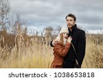 loving couple walks in the...   Shutterstock . vector #1038653818