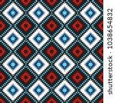 seamless pattern turkish carpet ... | Shutterstock .eps vector #1038654832
