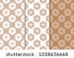 brown floral backgrounds. set... | Shutterstock .eps vector #1038656668