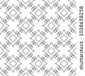 seamless geometric ornamental... | Shutterstock .eps vector #1038658258