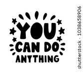 vector poster with phrase and... | Shutterstock .eps vector #1038658906
