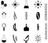 pathogen icon set | Shutterstock .eps vector #1038665032