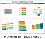 abstract infographics number... | Shutterstock .eps vector #1038670588