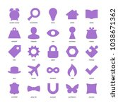basic design icons set. | Shutterstock .eps vector #1038671362