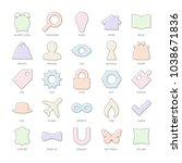 outline vector set basic design ... | Shutterstock .eps vector #1038671836