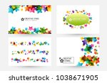 creative kids design collection.... | Shutterstock .eps vector #1038671905