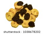 dried fruits. a handful of... | Shutterstock . vector #1038678202