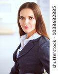 portrait of business woman... | Shutterstock . vector #1038682885