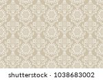 seamless floral ornament on... | Shutterstock .eps vector #1038683002