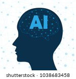 concept of artificial... | Shutterstock .eps vector #1038683458