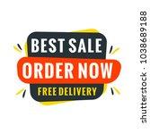 sale bunner template. vector... | Shutterstock .eps vector #1038689188