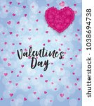 valentine s day love and... | Shutterstock . vector #1038694738