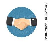 partnership flat vector icon | Shutterstock .eps vector #1038695908