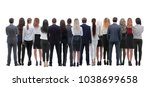 back view group of business... | Shutterstock . vector #1038699658