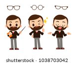 vector set of male  man teacher ... | Shutterstock .eps vector #1038703042