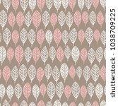 vector floral seamless pattern. ... | Shutterstock .eps vector #1038709225