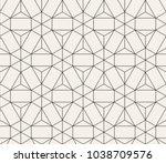 vector seamless pattern. modern ... | Shutterstock .eps vector #1038709576