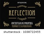 original handmade alphabet.... | Shutterstock .eps vector #1038722455