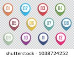 number bullet point colorful 3d ... | Shutterstock .eps vector #1038724252