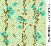 flowers. field plants. grassy... | Shutterstock .eps vector #1038724642
