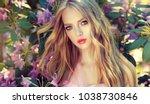 beautiful spring   model girl   ... | Shutterstock . vector #1038730846