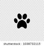 black animal pawprint icon...   Shutterstock .eps vector #1038732115