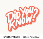 did you know  vector lettering. | Shutterstock .eps vector #1038732862