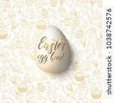 easter egg with hand made...   Shutterstock .eps vector #1038742576