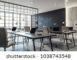 contemporary coworking office...   Shutterstock . vector #1038743548