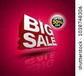 big sale 3d style for half...   Shutterstock .eps vector #1038748306